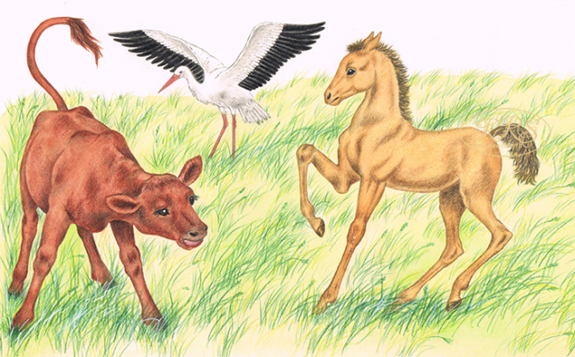 Children's magazine 'Starlet' illustration